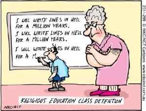 straf godsdienstles