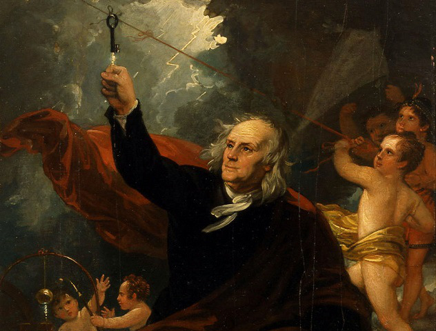 West_-_Benjamin_Franklin_Drawing_Electricity_from_the_Sky_ca_1816